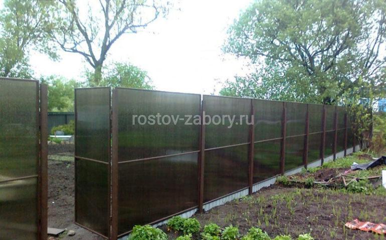 изготовление заборов из поликарбоната в Ростове-на-Дону