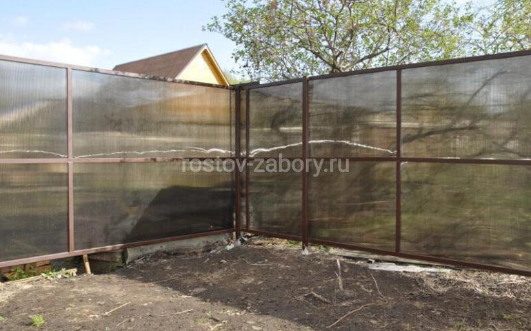 забор из поликарбоната в Ростове-на-Дону