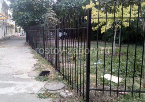 изготовление забора из профильной трубы в Ростове-на-Дону