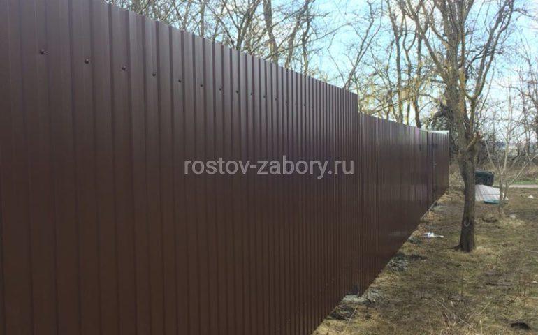 забор из профлиста в Ростове-на-Дону