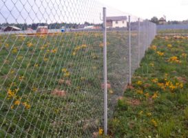 забор из сетки рабицы без сварки